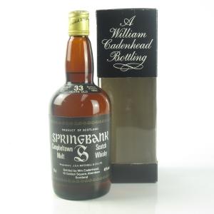 Springbank 1951 Cadenhead's 33 Year Old