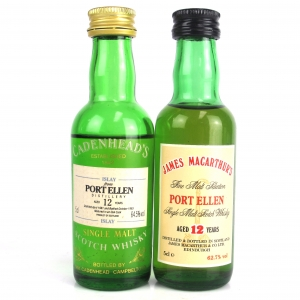 Port Ellen 12 Year Independently bottled Miniatures 2 x 5cl