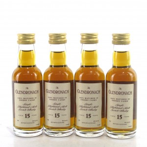 Glendronach 15 Year Old Miniatures 4 x 5cl 1990s