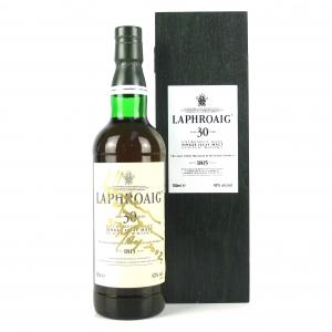 Laphroaig 30 Year Old / Signed