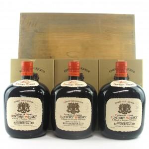 Yamazaki Suntory Finest Old Liqueur Whisky 3 x 72cl 1950s / Daimaru Wooden Case