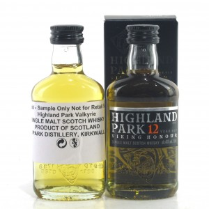 Highland Park 12 Year Old & Valkyrie Miniature 2 x 5cl