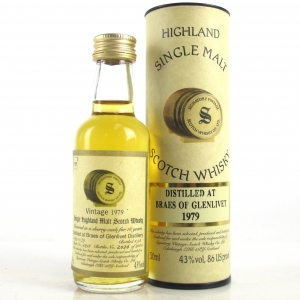 Braes of Glenlivet / Braeval 1979 Signatory Vintage 18 Year Old Miniature 5cl