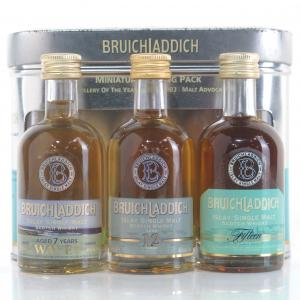 Bruichladdich Miniature Gift Pack 3 x 5cl