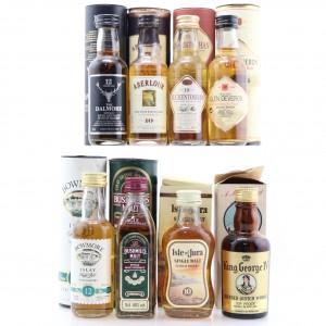 Miscellaneous Scotch Whisky Miniature Selection 8 x 5cl