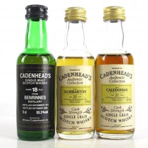 Miscellaneous Cadenhead's Miniature Selection 3 x 5cl