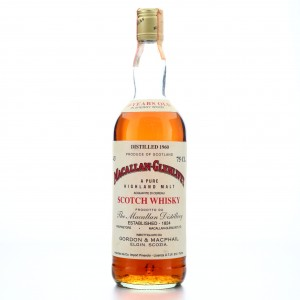 Macallan 1960 Gordon and MacPhail 15 Year Old / Co. Pinerolo Import