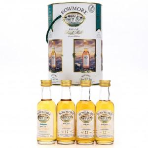 Bowmore Core Range 1990s Miniatures x 4