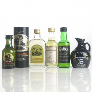 Miscellaneous Campbeltown and Islay Single Malt Miniatures x 5