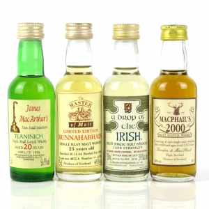 Miscellaneous Scotch Whisky Miniature Selection 4 x 5cl