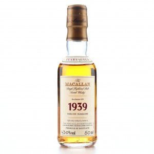 Macallan 1939 Fine and Rare 40 Year Old Miniature 5cl