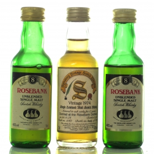 Rosebank Miniature Selection 3 x 5cl / includes 1974 Signatory Vintage