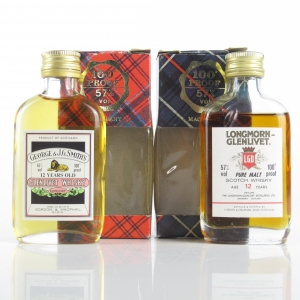 Glenlivet and Longmorn 12 Year Old Gordon and MacPhail Miniatures x 2