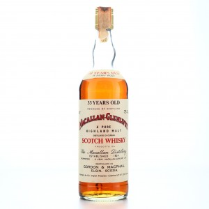 **Macallan 33 Year Old Gordon and MacPhail 1980s / Co. Pinerolo Import