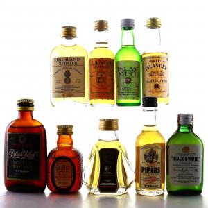 Blended Whisky Miniatures x 9
