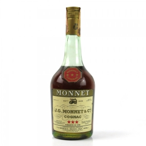 Monnet 3 Star Cognac 1970s