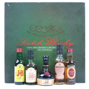 International Distillers & Vintners Gift Set / Including 5 Miniatures and Card Dice Set