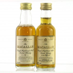 Macallan 12 Year Old Miniatures 2 x 5cl / German Imports