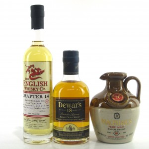 Whisky Selection 3 x 20cl / including Dewar's 18 Year Old