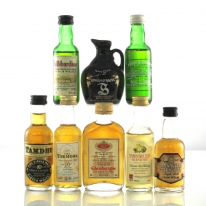 Single Malt Miniature Selection 8 x 5cl / Including Glenburgie Royal Marriage and Springbank
