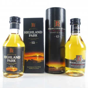 Highland Park 12 Year Old Miniatures 2 x 5cl