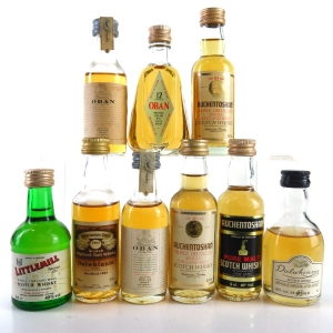 Miscellaneous Highland/Lowland Miniature Selection 9 x 5cl / Including Littlemill