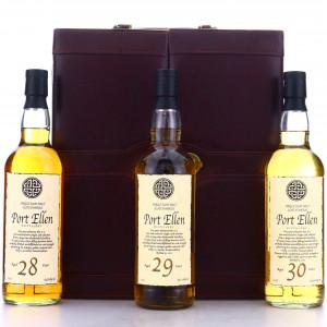 Port Ellen 28,29 & 30 Year Old 3 x 70cl with Briefcase