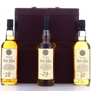 Port Ellen 28,29 & 30 Year Old 3 x 70cl with Briefcase