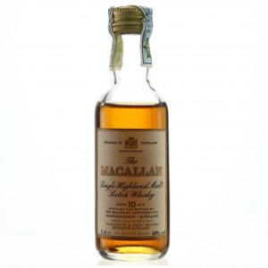 Macallan 10 Year Old Miniature 1980s / Giovinetti Import