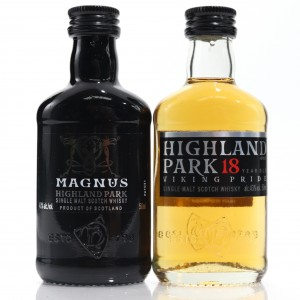 Highland Park 18 Year Old & Magnus Miniature 2 x 5cl