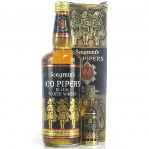 100 Pipers 1970s / with Miniature 4.68cl