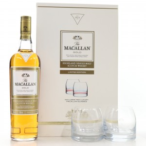 Macallan Gold Double Cask Limited Edition / with 2 x Glasses