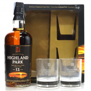 Highland Park 12 Year Old Gift Pack / including 2 x Glasses