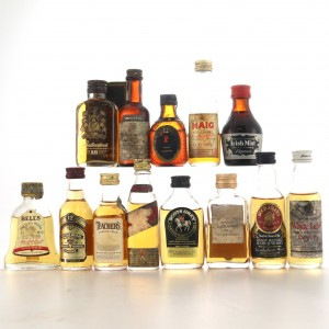 Blended Whisky Miniatures x 13 / includes Ballantine's 18 Year Old