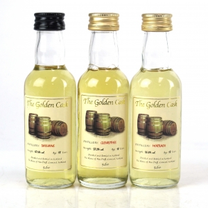 The Golden Cask 18 Year Old Speyside Miniatures 3 x 5cl