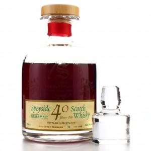 Glenfarclas 1958 Signatory Vintage 40 Year Old Decanter / 10th Anniversary