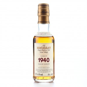 Macallan 1940 Fine and Rare 37 Year Old Miniature