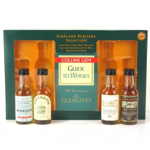 Highland Heritage Selection Miniatures 4 x 5cl / includes Collins Gem Guide to Whisky