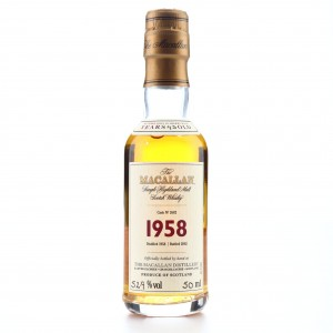 Macallan 1958 Fine and Rare 43 Year Old #2682 Miniature
