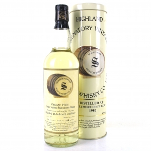 Aultmore 1986 Signatory 14 Year Old