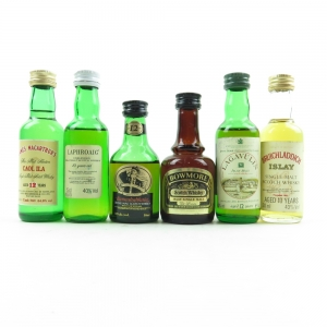Islay Miniature Selection Including Bowmore 1970s 6 x 5cl