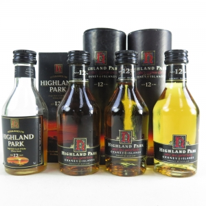 Highland Park 1990s 12 Year Old Miniature Selection 4 x 5cl