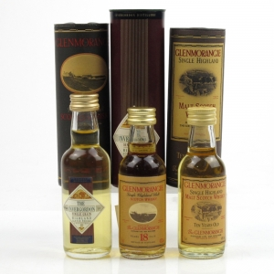 Miscellaneous Whisky Minatures / 3 x 5cl Including Glenmorangie 18