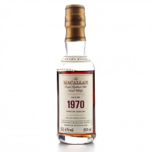 Macallan 1970 Fine and Rare 31 Year Old Miniature 5cl