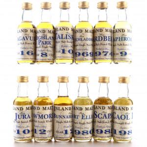 Whisky Connoisseur Miniatures x 12 / Include Port Ellen