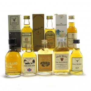 Miscellaneous Whisky Miniature Selection x 8 / includes Macallan 10 Year Old