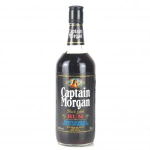 Captain Morgan Black Label Rum 1980s