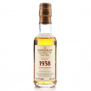 Macallan 1938 Fine and Rare 35 Year Old Miniature
