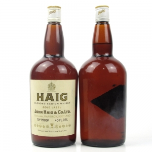 Haig Gold Label 1970s 2 x 40 Fl Ozs