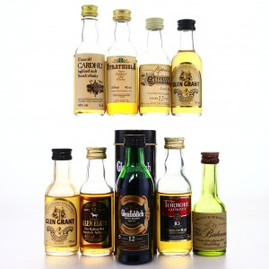 Scotch Malt Whisky Miniatures x 9